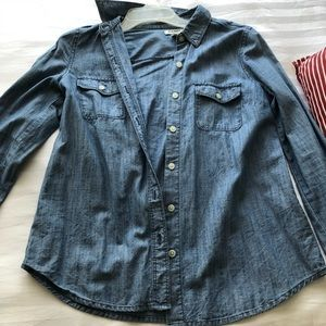 Button down denim looking shirt